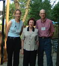 Janice Lauer Rice with two of her former graduate students Kelly Pender and Michael Carter